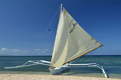 Island hopping by sailboat