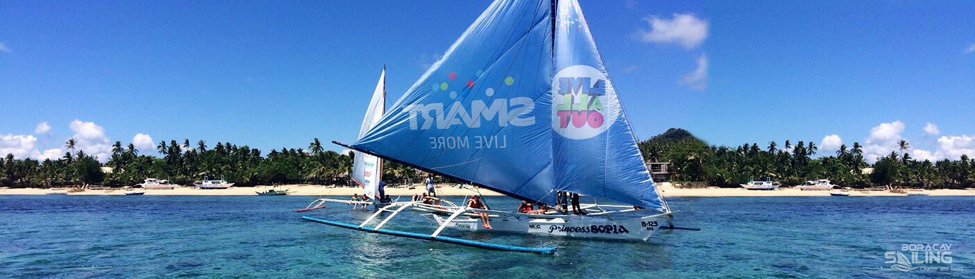 Sailboat charter Boracay | Small sailboat fleet